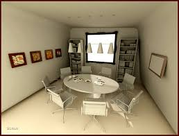 design office room. meeting room round table design office