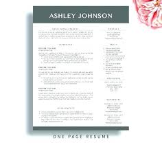 Resume Modern Temp 2 Page Resume Template Free Hellotojoy Co