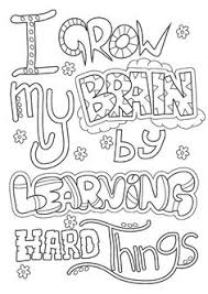 We Have A Growth Mindset Picture Coloring Pages Quotes Growth
