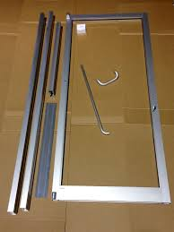 glass aluminum front door and frame 3 0 x 7 0 commercial grade