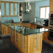 stainless steel brackets for glass island counter