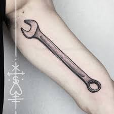 wood tool tattoos. arm tool wrench tattoo wood tattoos o