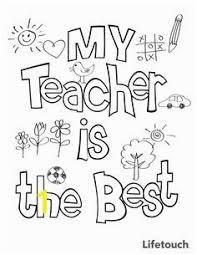 Teacher Appreciation Week Coloring Pages Printable Teacher