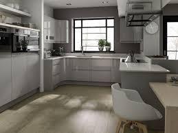 Kitchen U Shaped Gray Kitchen Combination Laminated Kitchen