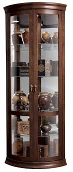 bold design 23 curved curio cabinet furniture pulaski curved glass curio cabinet