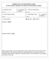 8 Corrective Action Report Templates Free Word Pdf Documents