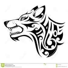 Forma Del Tatuaggio Del Lupo Illustrazione Vettoriale