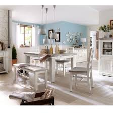 table 4 chairs and bench. opal extendable dining table 4 chairs and bench in white pine a