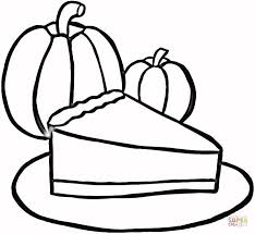 Small Picture Piece of Pumpkin Pie coloring page Free Printable Coloring Pages