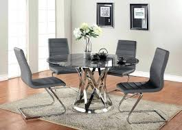 grey round dining table and chairs round marvelous round dining tables modern round glass kitchen table