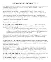 Freelance Retainer Contract Template Free Consultant Contract