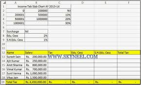 Income Tax Calculation Formula With If Statement In Excel