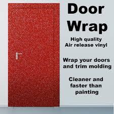 Door Wraps Diamond Red Vinyl Door Wrap Refrigerator Wrap Cabinets Wrap And