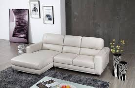 Modern Concept Apartment Size Leather Sectional Sofa And