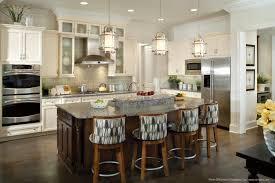 Lighting Options For Kitchens White Cabinetry In Kitchen With An Island Also White Granite