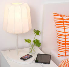 ikea varv bedside table lamp with wireless charging