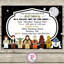 Lego Star Wars Birthday Party Invitation Star Wars Party