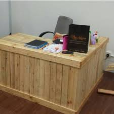 pallet office. handcrafted pallet wood office desk