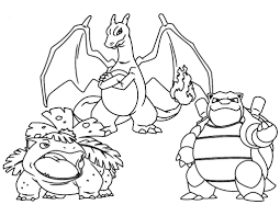 Pokemon Blastoise Coloring Pages Sketch Coloring
