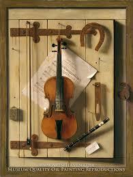 still life violin and by william harnett