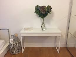 ikea besta burs white gloss console table for