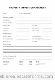 Free Property Inspection Checklist Printable Real Estate Forms