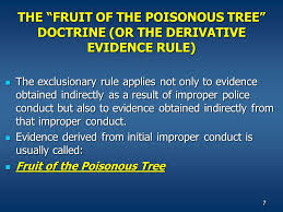 Civ0005mgifFruit Of Poisonous Tree Doctrine Definition