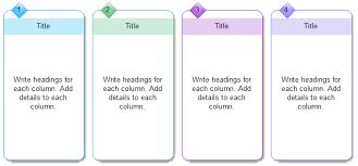 Four Column Chart Templates