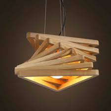 Creative design lamp spiral wood pendant lights wooden hanging light rustic pendant  lamps living room lighting fixture -in Pendant Lights from Lights ...