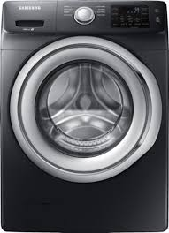 black washer and dryer. Ft. 8-Cycle Front-Loading Washer - Fingerprint Black And Dryer E