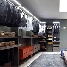 simple walk in clothes storage solution