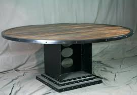 black metal round dining table dining tables marvellous round industrial dining table reclaimed wood and metal