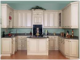 painting kitchen cabinets antique white. Delighful Cabinets Great Space Designs Paint Antique White Cabinets Blue Wall Color Painting  Kitchen And H