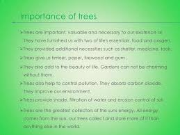 short essay on importance of trees short paragraph on importance of trees important