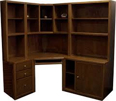 office desk armoire. Dark Brown Corner Desk With Hutch Plus 3 Drawers For Home Furniture Ideas Office Armoire