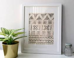 framed african mudcloth fabric handwoven cream and black african fairtrade textile wall hanging wall art bohemian decor tribal art on mud cloth wall art with framed mudcloth etsy
