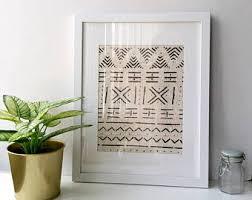 mud cloth wall art