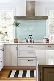 blue subway tile kitchen backsplash kitchen great subtle pop of interest and color with sea blue