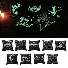 Printed Home Decor without Pillow Core Ghost <b>Halloween</b> Cushion ...