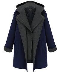 jxg womens autumn plus size long sleeve double ted hoo pea coat b076p5lwyr