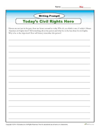 african american history month writing prompt writing prompt today s civil rights hero