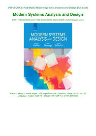 Modern Systems Analysis And Design 7th Edition Pdf Download Pdf Modern Systems Analysis And Design Book Jeffrey A Hoffer
