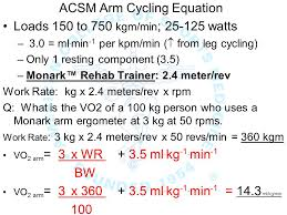 16 acsm arm cycling equation