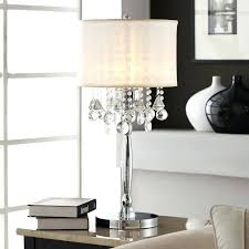 crystal table lamp shade home silver mist 3 light crystal chrome table lamp crystal table lamp