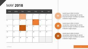 2018 Calendar Template Free Powerpoint Template