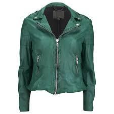 muubaa women s presley biker jacket green image 1