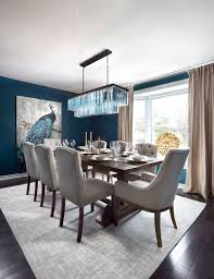 blue dining rooms. traditional blue dining room with white accent chair and parquet floor.photo by design logic limited, inc. - discover inspiration rooms d