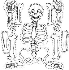 Small Picture Skeleton and His Bones Part Coloring Page NetArt