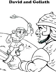 David And Goliath Coloring Page And Coloring Pages Coloring Pages