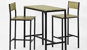 Ensemble Table Haute Bar Ronde Chaises Chaise Cuir Vidaxl Pour ...
